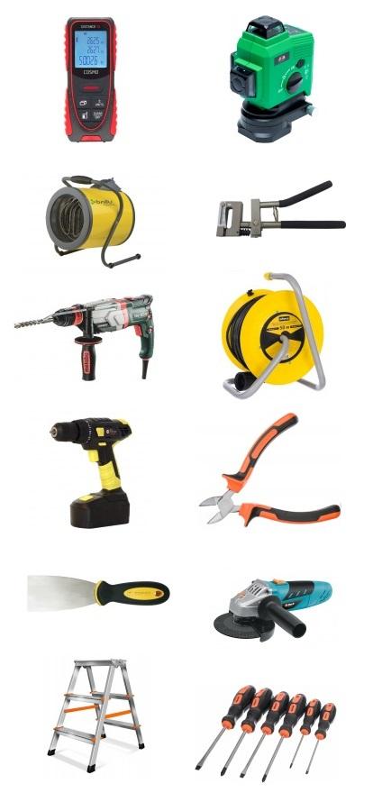 инструменты натяжной потолок