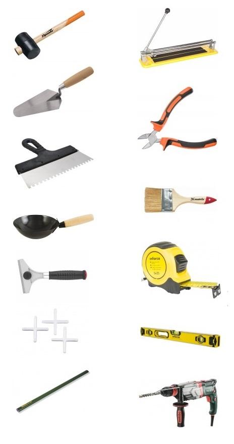 инструменты плитка