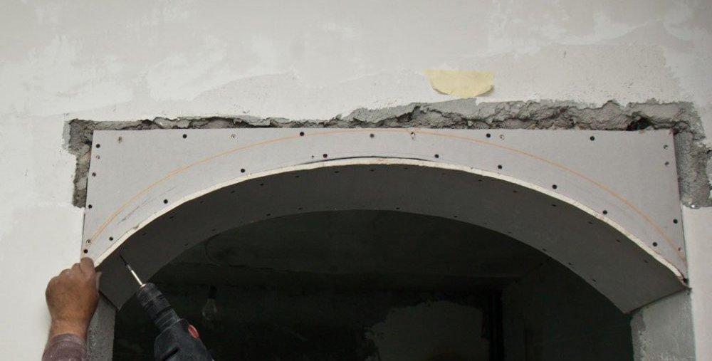 арка гипсокартона