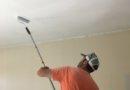 Шпаклевка и покраска потолка из гипсокартона