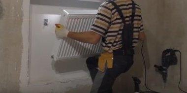 установка стальных радиаторов