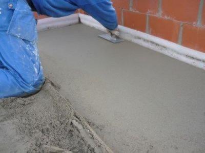 цементная стяжка